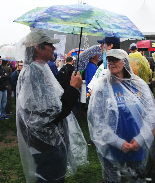 event-science-march-2017 Many ponchos were sold